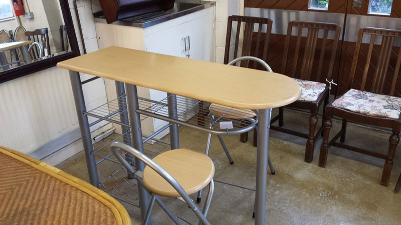Cool Pine Breakfast Bar With Wine Rack Shelving And 2 Stools Evergreenethics Interior Chair Design Evergreenethicsorg