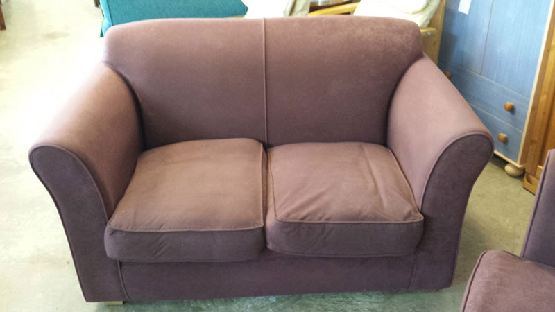 Plum Coloured 2 Seater Sofa Inside Amp Out