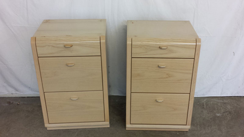 2 bedside chests of drawers with 2 large and 1 small for Small bedside chest of drawers