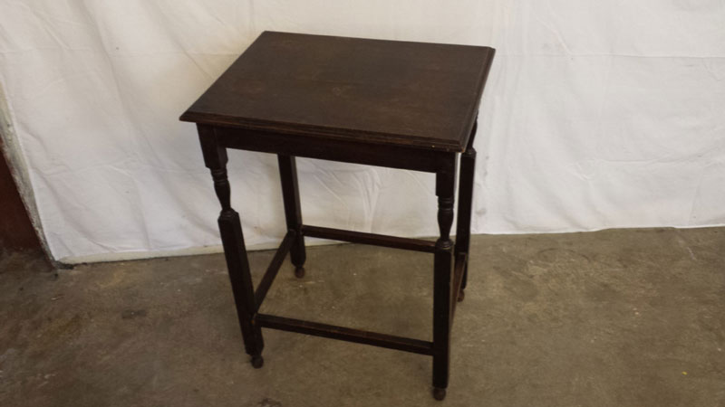 Dark wood rectangular side table inside out for Black wood side table